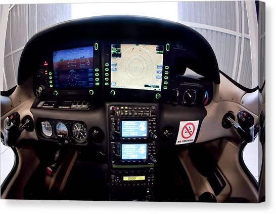 Sr22 Cockpit Canvas Print