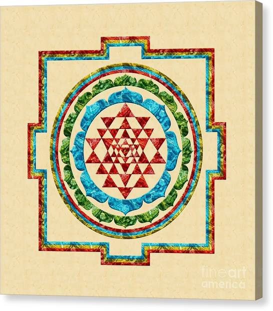 Sri Yantra Canvas Print