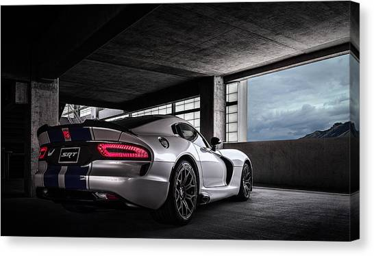 Vipers Canvas Print - Srt Viper by Douglas Pittman