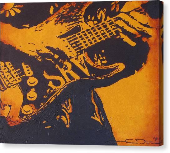 Srv  Number One Fender Stratocaster Canvas Print