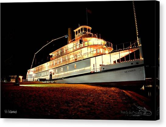 Ss Sicamous Frontview 1/21/2014  Canvas Print