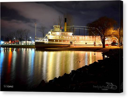 Ss Sicamous Steam Ship 1/21/2014  Canvas Print