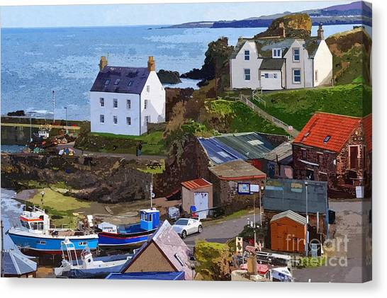 St. Abbs Harbour - Photo Art Canvas Print