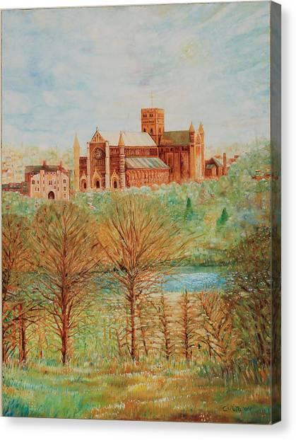 St Albans Abbey - Autumn View Canvas Print