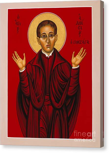 St. Aloysius In The Fire Of Prayer 020 Canvas Print