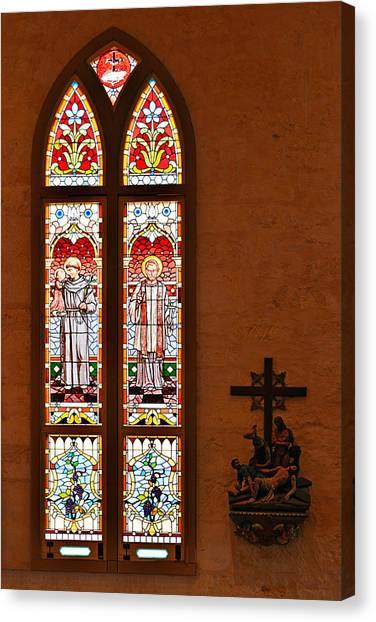Francis Canvas Print - St Anthony And St Francis Xavier by Christine Till