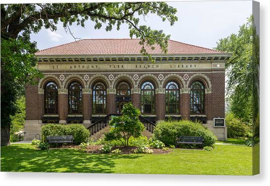 St Anthony Park Library Canvas Print