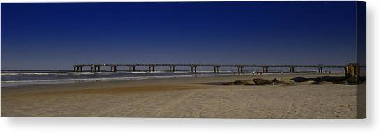 St Augustine Beach Pier Canvas Print by Donnell Carr