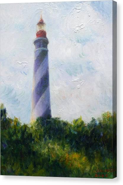 St. Augustine Light Canvas Print