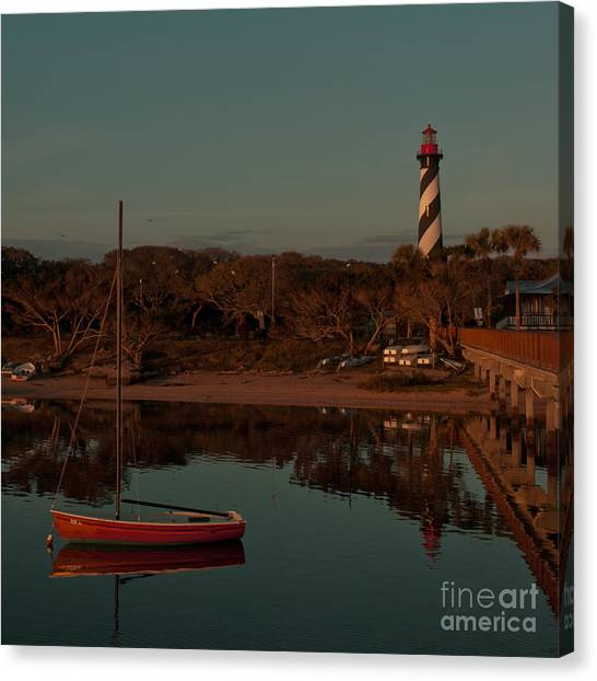 St. Augustine Lighthouse Beach Early Morning Color Canvas Print