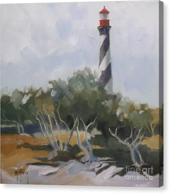 St Augustine Lighthouse First Light Canvas Print