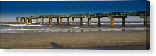 St. Augustine Pier Canvas Print by Donnell Carr