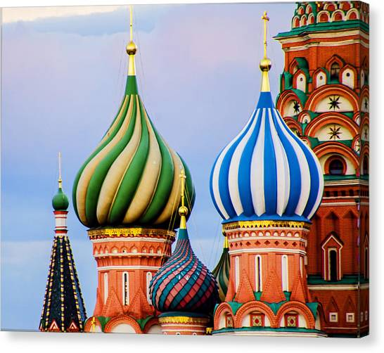 St John The Russian Canvas Print - St Basils - Red Square - Moscow Russia by Jon Berghoff