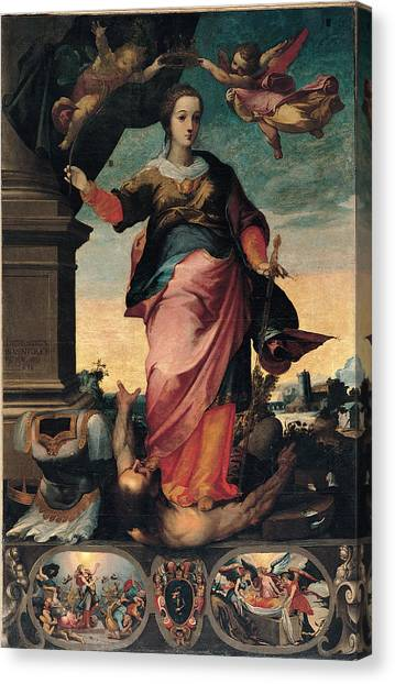 Byzantine Art Canvas Print - St Catherine Of Alexandria, 1570 - 1611 by Il Sozzo