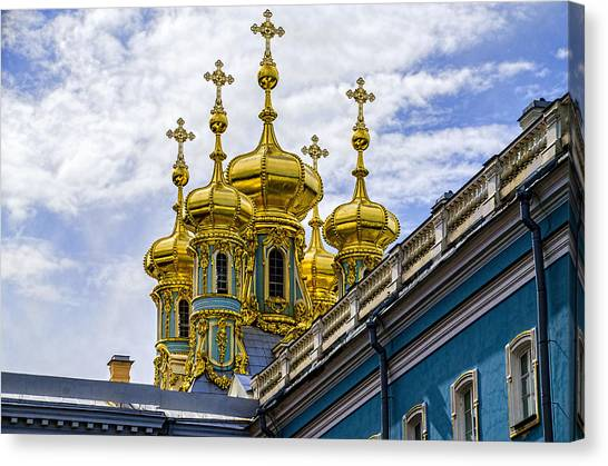 St John The Russian Canvas Print - St Catherine Palace - St Petersburg Russia by Jon Berghoff