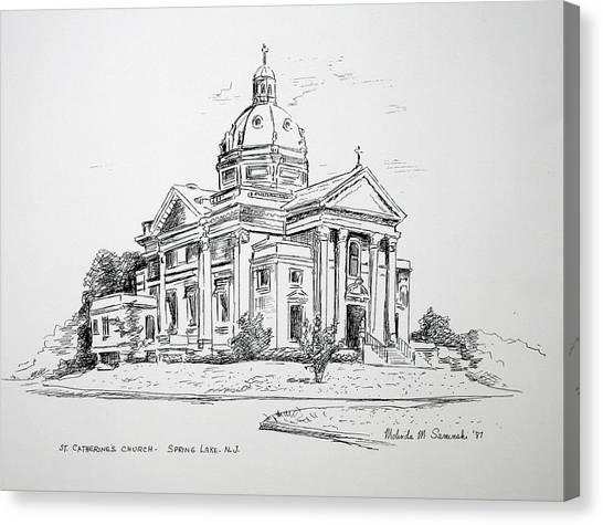 St Catherines Spring Lake Nj Canvas Print