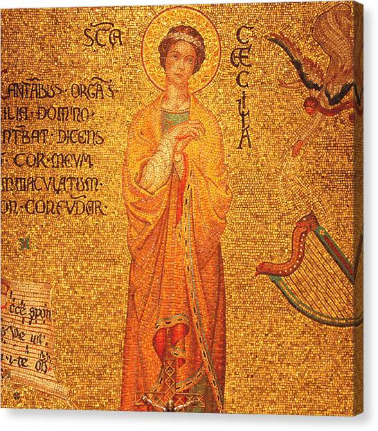 Mosaic Canvas Print - St Cecilia  by Philip Ralley