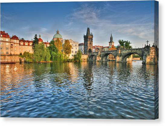 St Charles Bridge Prague Canvas Print