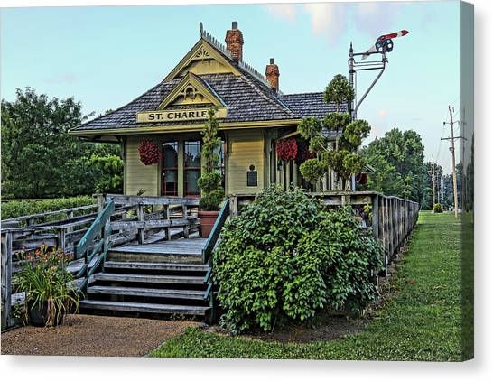 St Charles Station On The Katty Trail Look West Dsc00849 Canvas Print