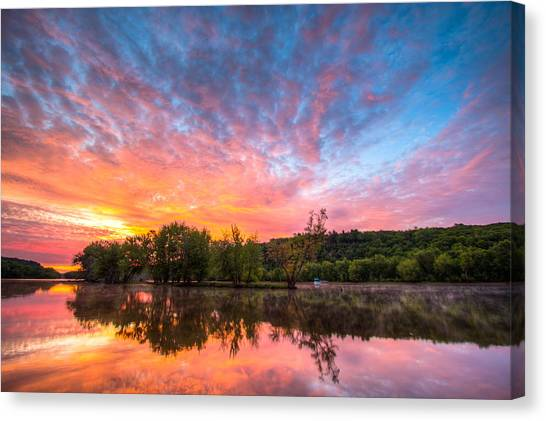 St. Croix River At Dawn Canvas Print