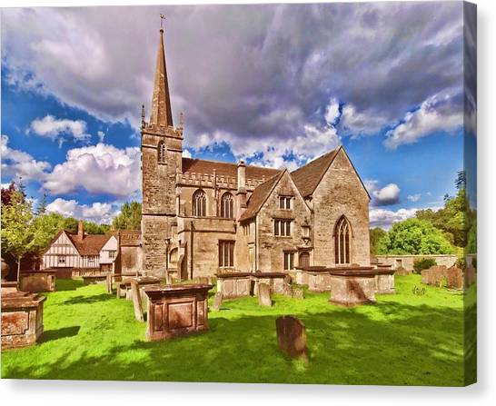 St Cyriac Church Lacock Canvas Print