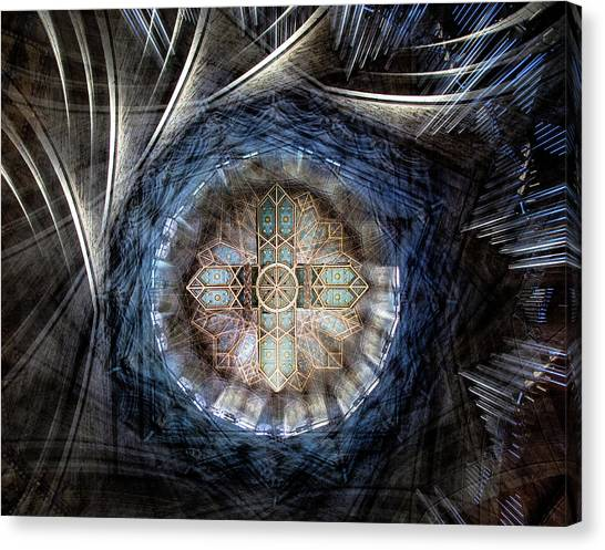 Cathedrals Canvas Print - St Davids Cathedral Roof by Simon Pearce