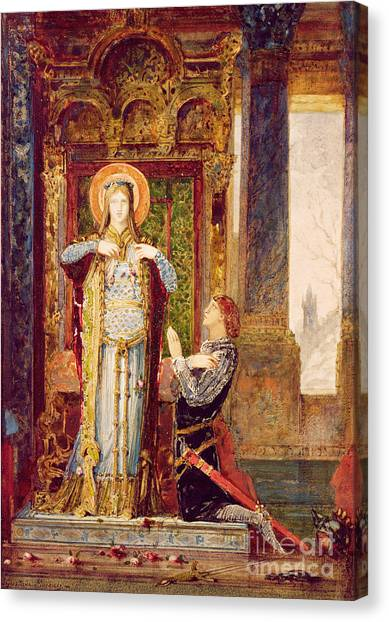 Queen Elizabeth Canvas Print - St Elisabeth Of Hungary Or The Miracle Of The Roses by Gustave Moreau