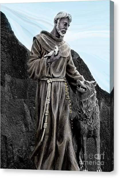 St Francis Of Assisi On Isabela In The Galapagos Canvas Print