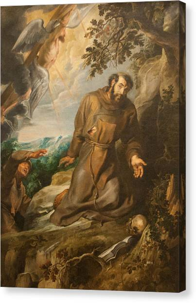 St. Francis Of Assisi Receiving The Stigmata Canvas Print