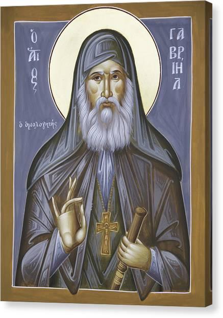 Canvas Print - St Gabriel The Confessor Of Georgia by Julia Bridget Hayes