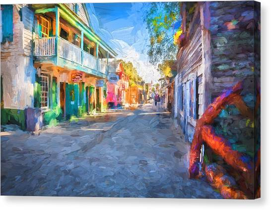 St George Street St Augustine Florida Painted Canvas Print