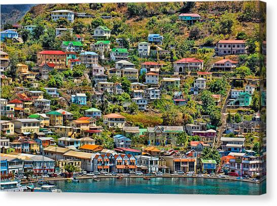 St. Georges Harbor Grenada Canvas Print