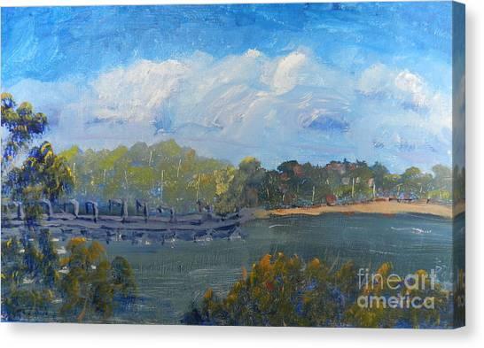 St Georges River Near Como Marina  Canvas Print