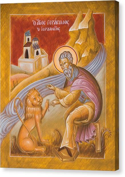 Canvas Print - St Gerasimos Of The Jordan by Julia Bridget Hayes