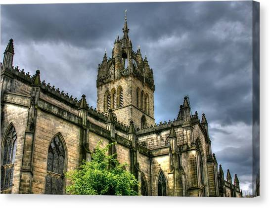 St Giles And Tree Canvas Print