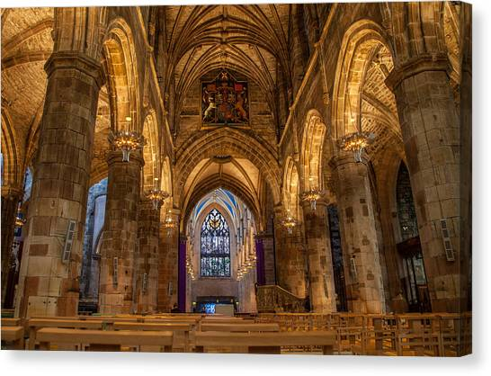 St. Giles Interior Canvas Print