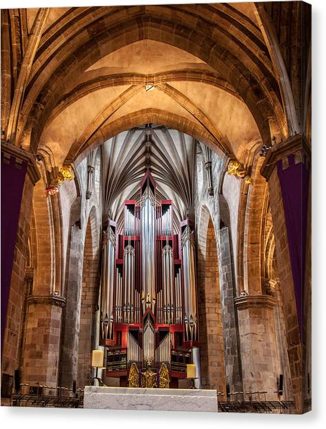 St. Giles Pipe Organ Canvas Print