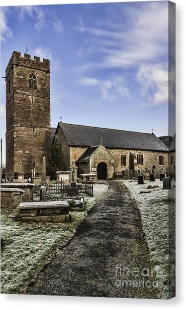 St Gwendolines Church Talgarth 4 Canvas Print