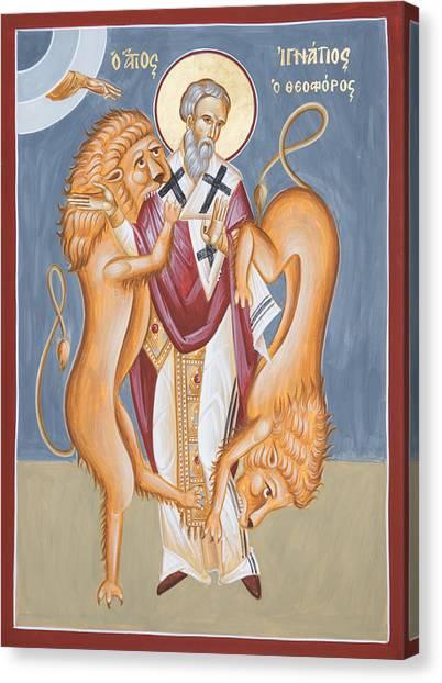 Canvas Print - St Ignatius Of Antioch by Julia Bridget Hayes