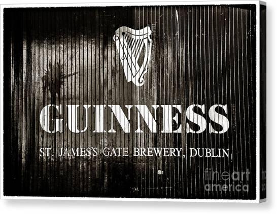 St. Patricks Day Canvas Print - St. James Gate Brewery by John Rizzuto