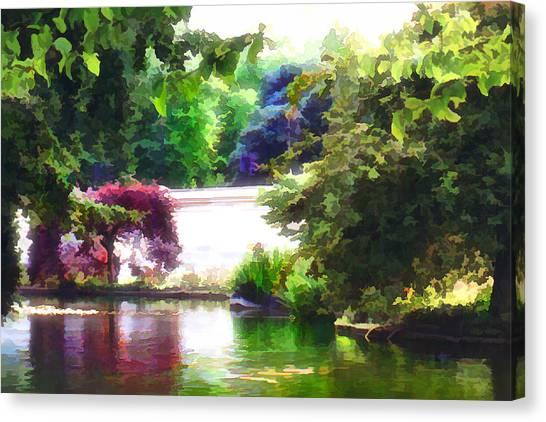 Canvas Print featuring the digital art St James Park 2 by Helene U Taylor