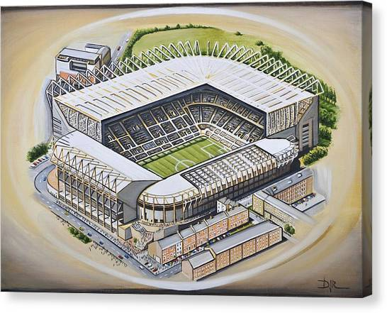 Magpies Canvas Print - St  James Park - Newcastle United by D J Rogers