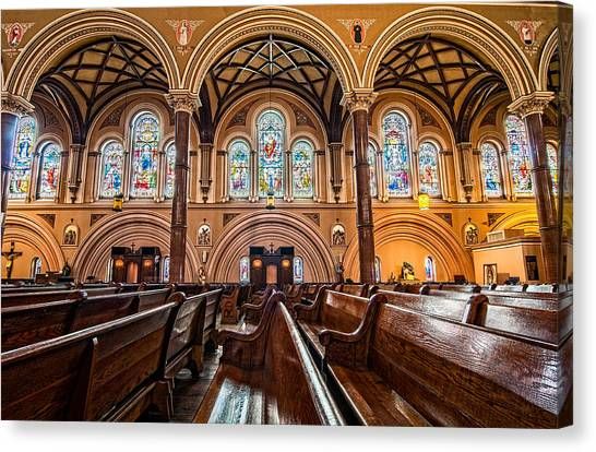 St. Joseph Church Stained Glass Canvas Print