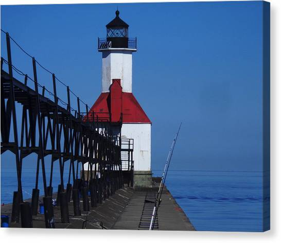 St Joseph North Point Lighthouse Canvas Print by Rose Clark