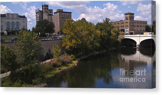 St. Joseph River Panorama Canvas Print by Anna Lisa Yoder