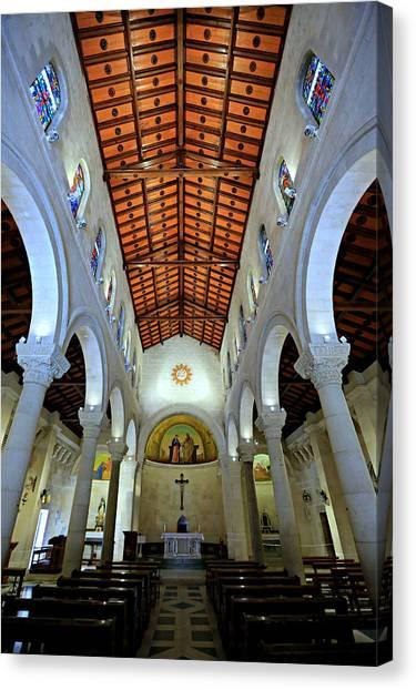 Palestinian Canvas Print - St. Joseph's Church -- Nazareth by Stephen Stookey
