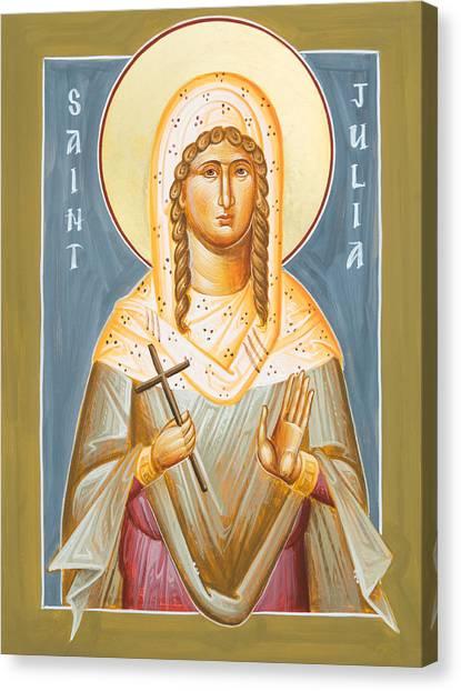 Canvas Print - St Julia Of Carthage by Julia Bridget Hayes