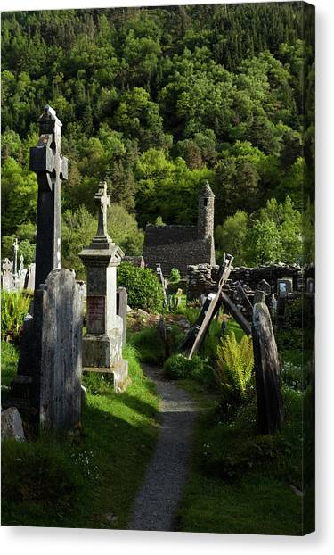 Early Christian Art Canvas Print - St Kevins Church Sometimes Called St by Panoramic Images