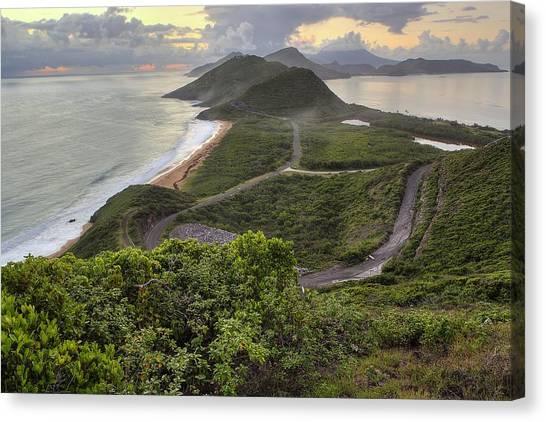 St Kitts Overlook Canvas Print