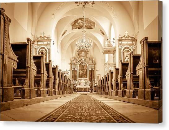 St Laszlo Roman Catholic Church Oradea Romania Canvas Print